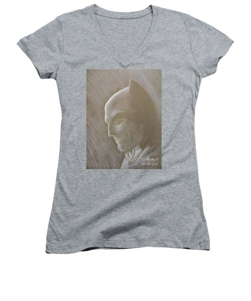 Ben As Batman Women's V-Neck T-Shirt