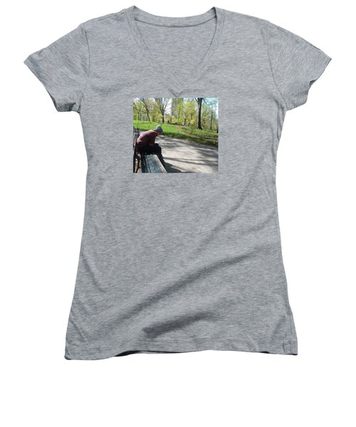 Benched Women's V-Neck T-Shirt