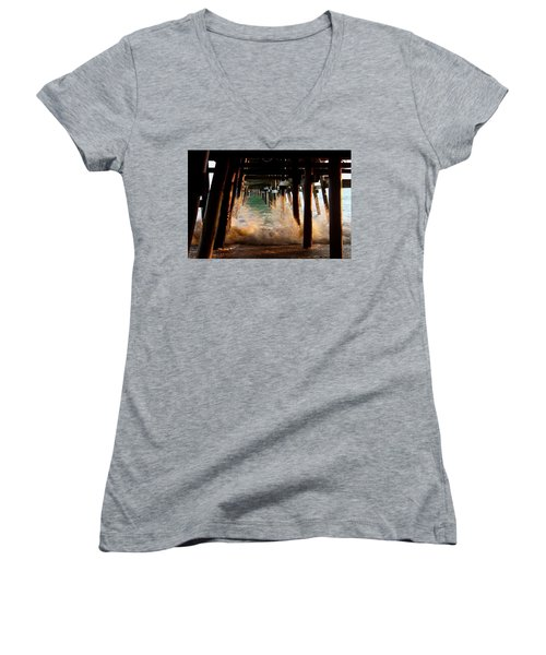 Beneath The Pier Women's V-Neck (Athletic Fit)