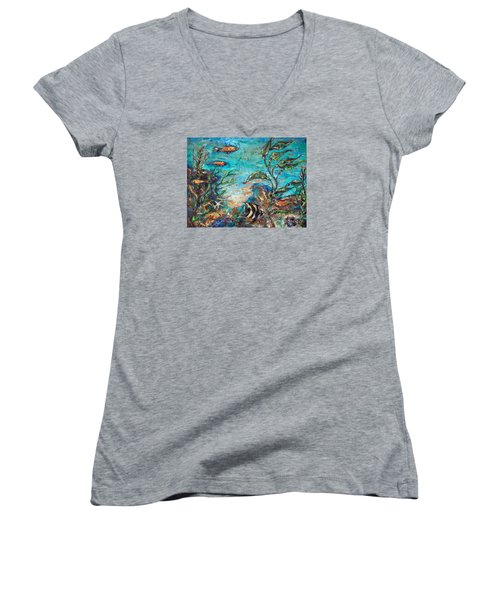Beneath The Waves Women's V-Neck T-Shirt