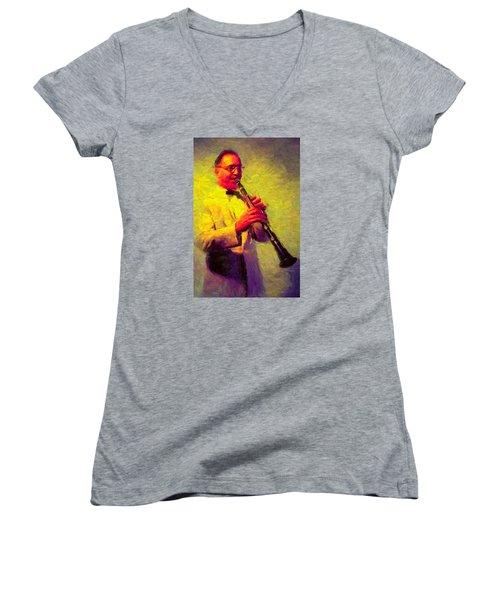 Benny Goodman Women's V-Neck T-Shirt
