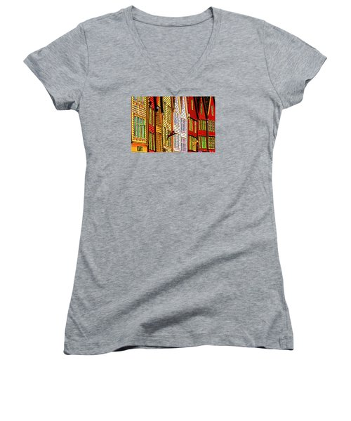 Bergen Warehouses Women's V-Neck T-Shirt (Junior Cut) by Dennis Cox WorldViews