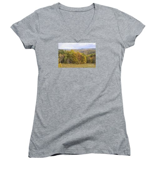 Berkshires In Autumn Women's V-Neck