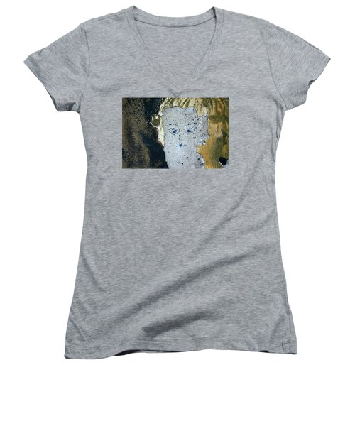 Berlin Wall Mural Women's V-Neck (Athletic Fit)
