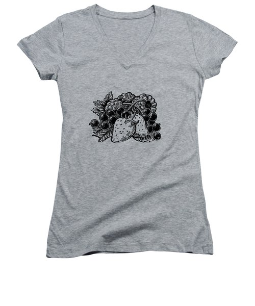 Berries From Forest Women's V-Neck (Athletic Fit)
