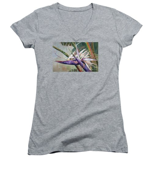 Betty's Bird - Bird Of Paradise Women's V-Neck T-Shirt