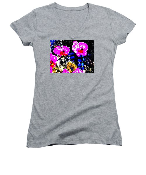 Between Cancer And Capricorn Women's V-Neck T-Shirt (Junior Cut) by Tim Townsend