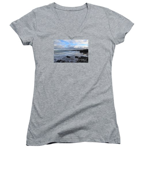 Between Cornish Storms 2 Women's V-Neck T-Shirt (Junior Cut)