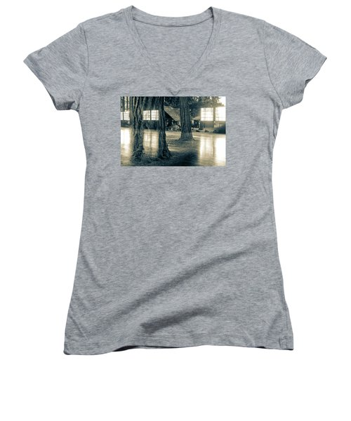 Between Places I I Women's V-Neck (Athletic Fit)