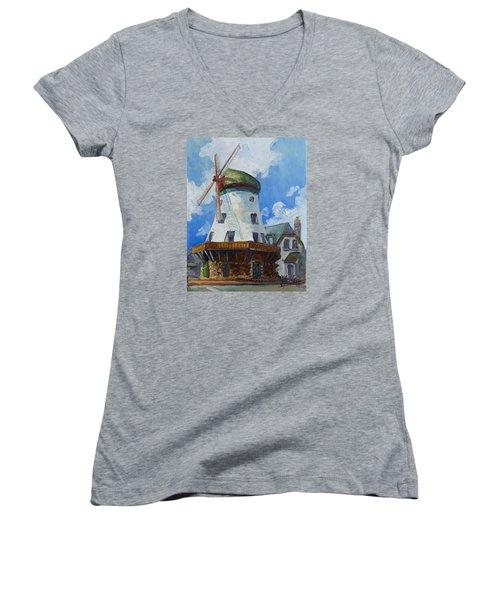 Bevo Mill - St. Louis Women's V-Neck T-Shirt (Junior Cut) by Irek Szelag