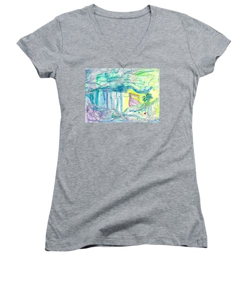 Bewitched Women's V-Neck T-Shirt (Junior Cut) by Veronica Rickard