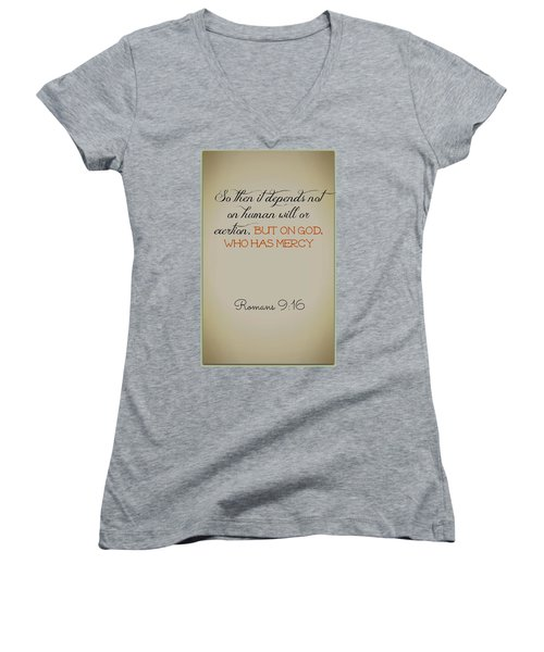 Beyond Our Imperfection Women's V-Neck (Athletic Fit)