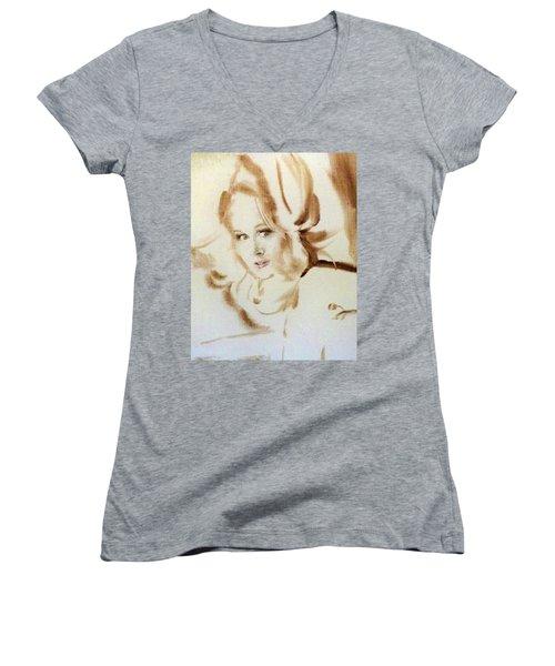 Bibi From Bordeaux Women's V-Neck T-Shirt (Junior Cut) by Ed Heaton