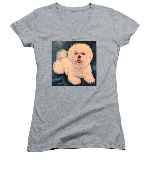 Bichon Frise Women's V-Neck