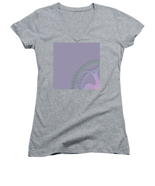 Bicycle Chain Ring - 1 Of 4 Women's V-Neck T-Shirt (Junior Cut) by Serge Averbukh