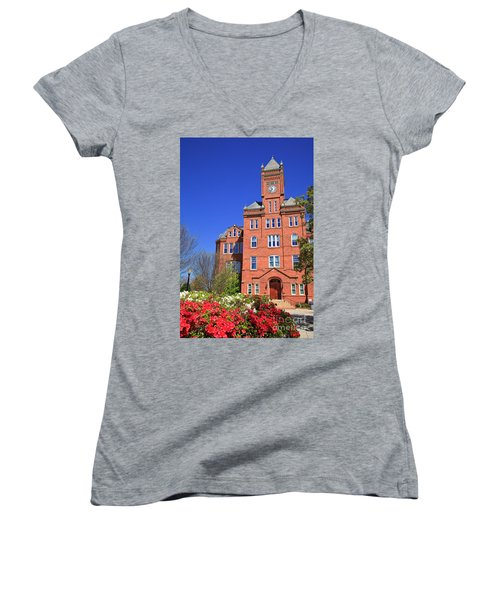 Biddle Hall In The Spring Women's V-Neck