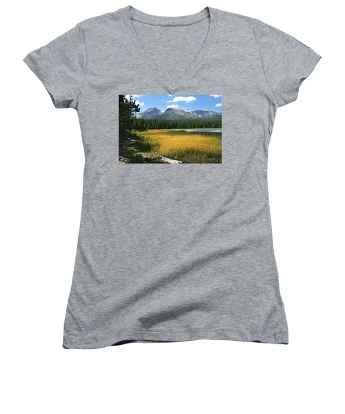 Autumn At Bierstadt Lake Women's V-Neck (Athletic Fit)