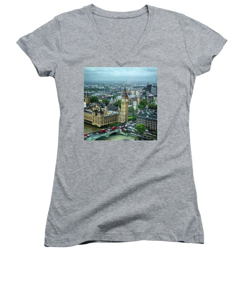 Big Ben From The London Eye Women's V-Neck