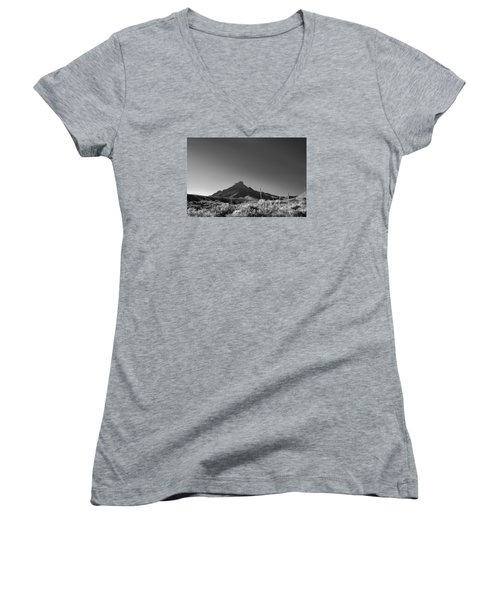 Big Bend Np Image 134 Women's V-Neck T-Shirt (Junior Cut) by Kerry Beverly