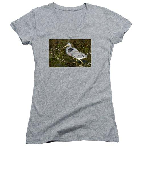 Big Bird Little Stick Women's V-Neck T-Shirt