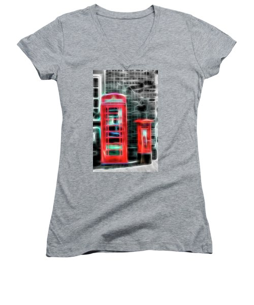 Women's V-Neck T-Shirt (Junior Cut) featuring the photograph Big Box Little Box by Scott Carruthers