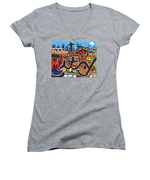 Big Cities Women's V-Neck