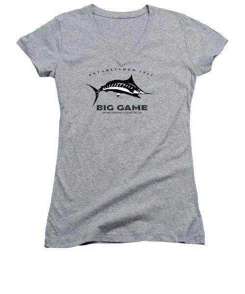 Big Game Fish Women's V-Neck T-Shirt (Junior Cut)