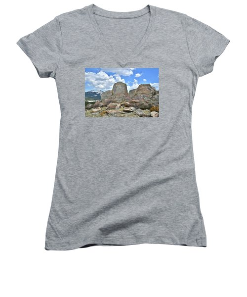 Big Horn Mountains In Wyoming Women's V-Neck (Athletic Fit)