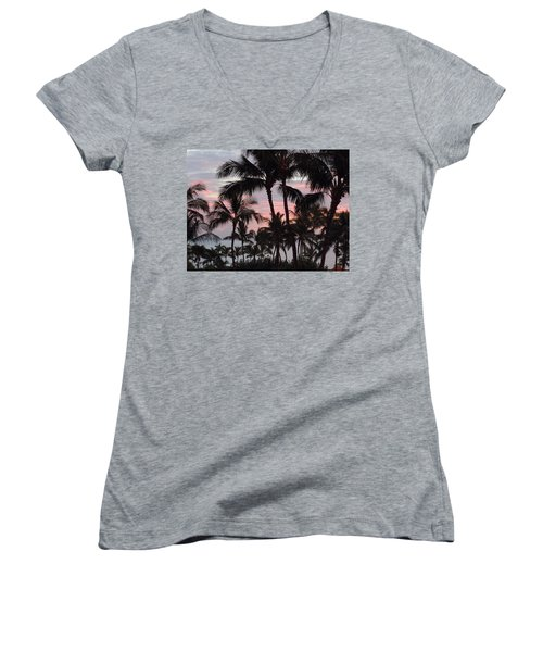 Big Island Sunset 2 Women's V-Neck