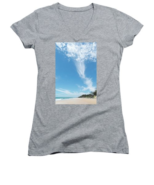 Big Sky Beach Women's V-Neck T-Shirt