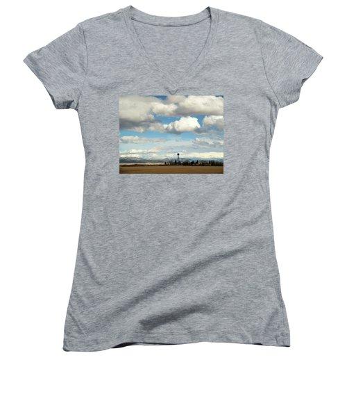 Big Sky Water Tower Women's V-Neck