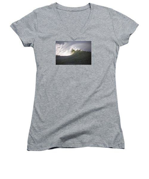 Big Waves #3 Women's V-Neck (Athletic Fit)