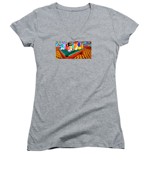 Billiard Table Women's V-Neck T-Shirt