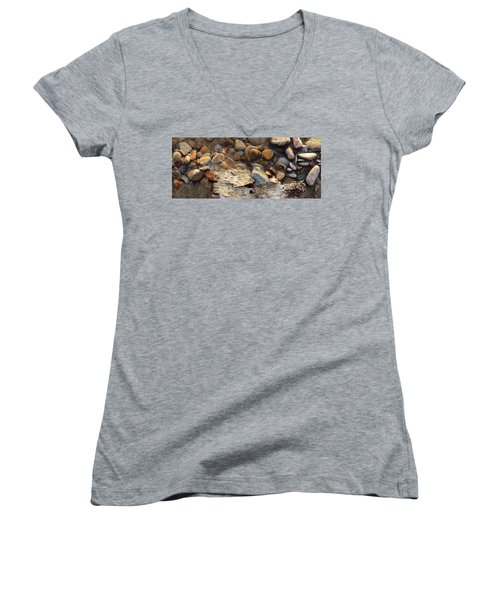 Birch Bark And Ice In The Creek Four  Women's V-Neck (Athletic Fit)