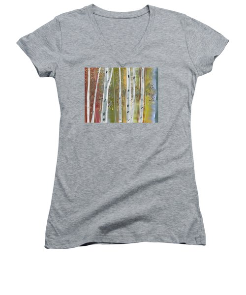Birch Forest Women's V-Neck T-Shirt