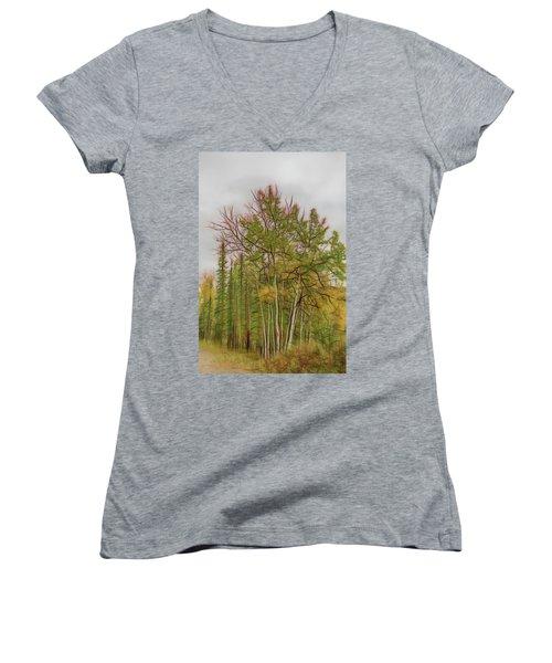 Birch Tree #1 Women's V-Neck (Athletic Fit)