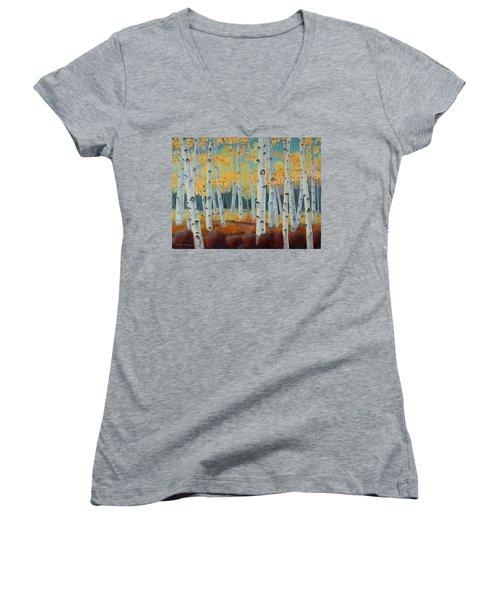 Birchwood Forest Women's V-Neck T-Shirt (Junior Cut)
