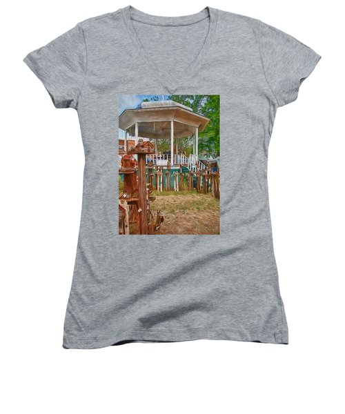 Bird Houses Women's V-Neck T-Shirt
