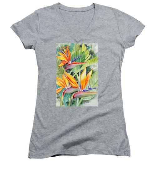 Bird Of Paradise Flowers Women's V-Neck