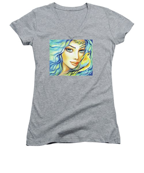 Bird Of Secrets Women's V-Neck