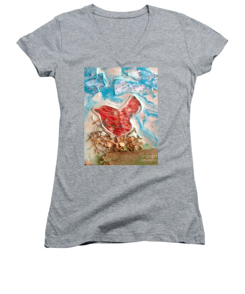 Bird Song Women's V-Neck (Athletic Fit)