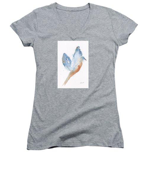 Bird Takes Flight  Women's V-Neck T-Shirt