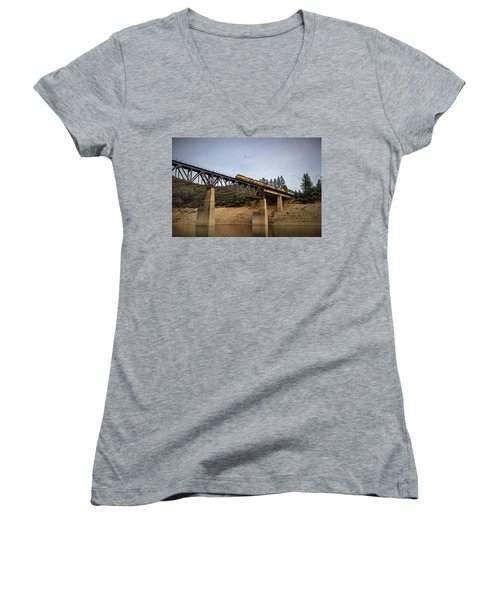 Bird Vs Train Women's V-Neck (Athletic Fit)