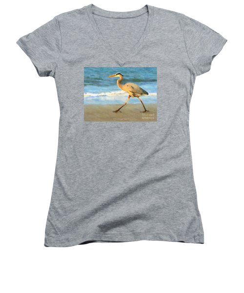 Bird With A Purpose Women's V-Neck (Athletic Fit)