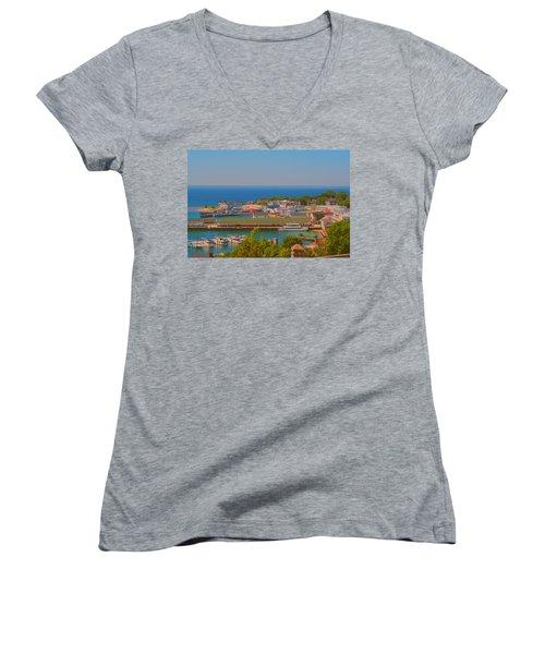 Birds Eye View Women's V-Neck T-Shirt