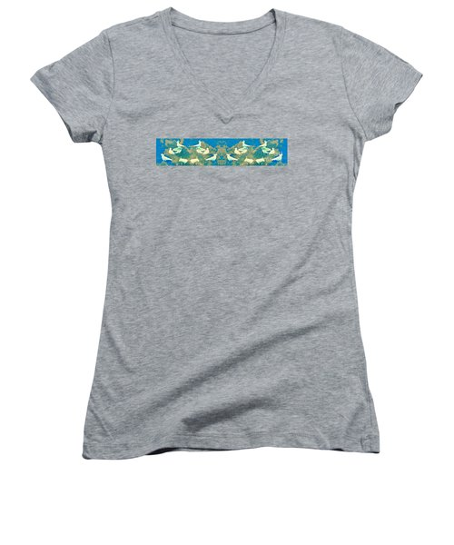 Birds In Paradise Women's V-Neck (Athletic Fit)
