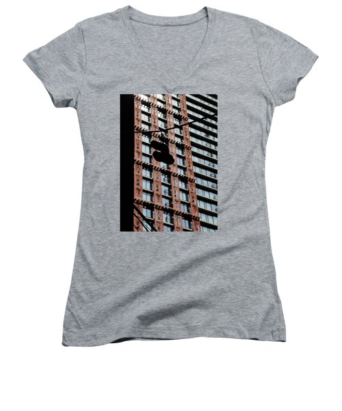Women's V-Neck T-Shirt (Junior Cut) featuring the photograph Birds Of Soul  by Empty Wall