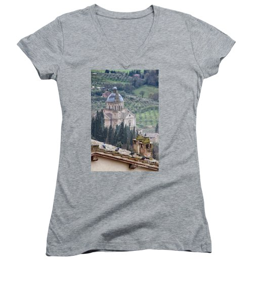Birds Overlooking The Countryside Women's V-Neck
