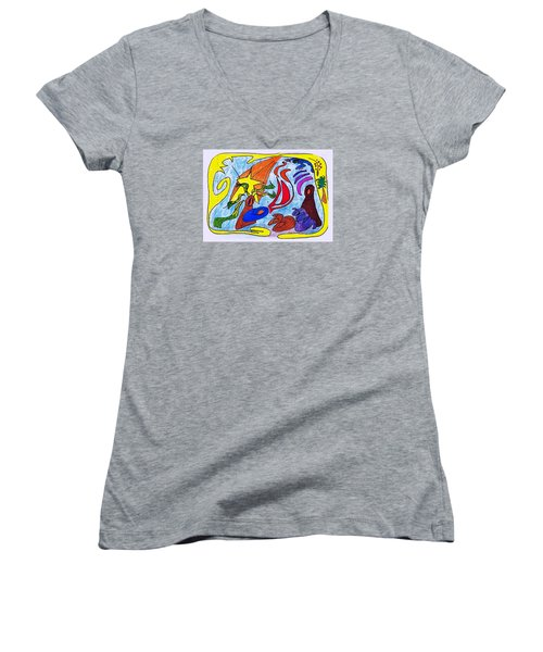 Birth Narrative Women's V-Neck T-Shirt