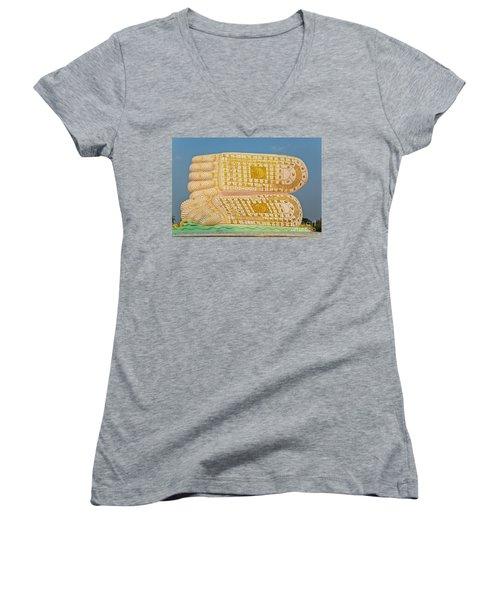 Women's V-Neck T-Shirt (Junior Cut) featuring the photograph Biurma_d1831 by Craig Lovell
